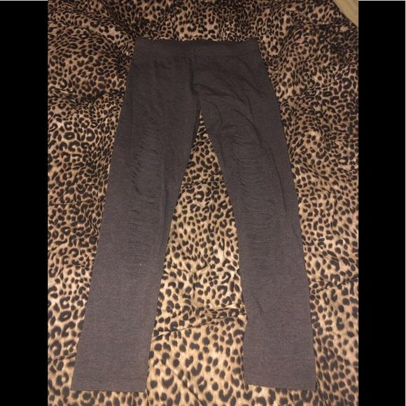 Butter Pants - Brown ripped  leggings